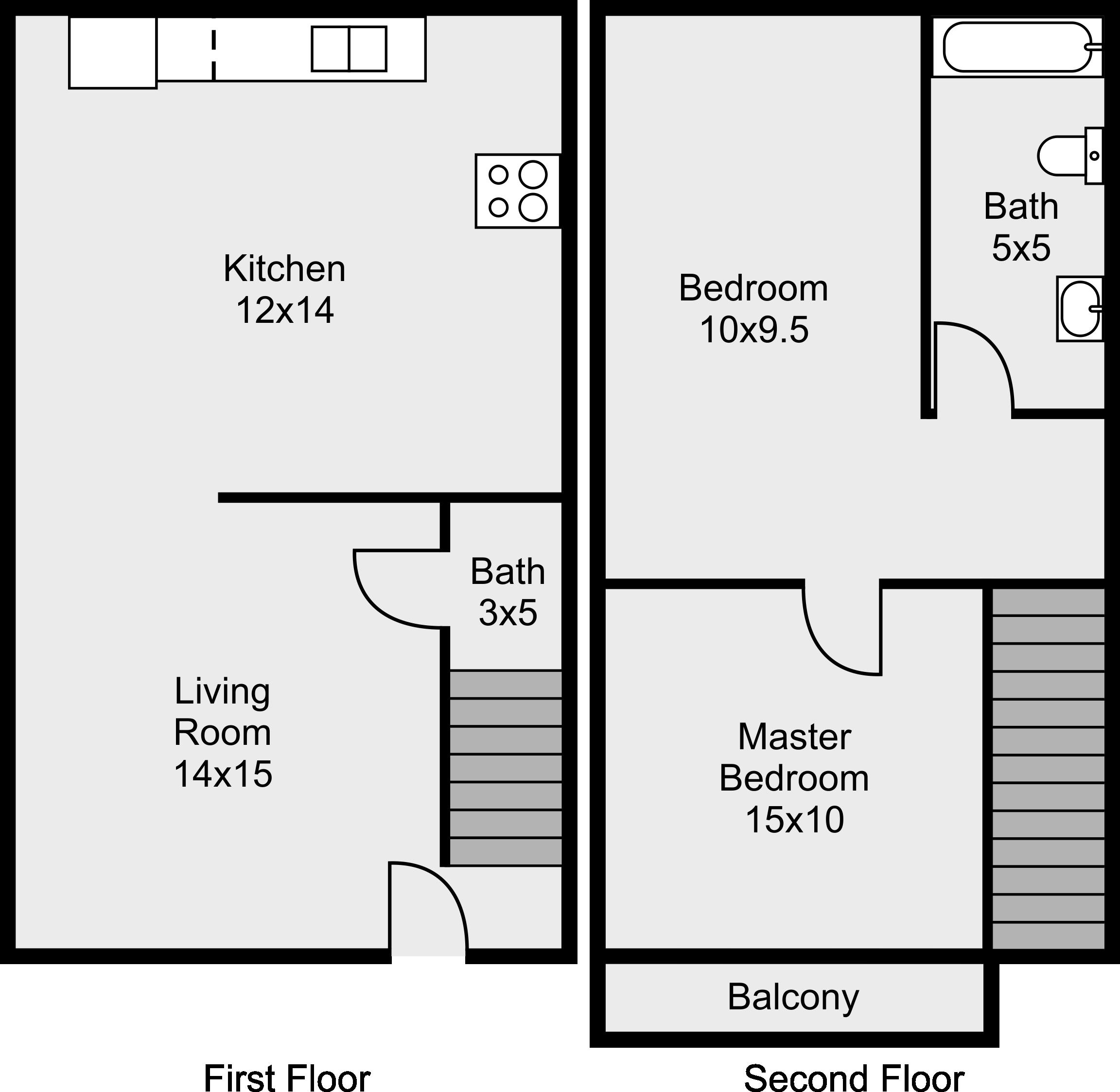 floor plans - college park apartments - murfreesboro, tennessee